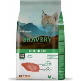 BRAVERY Kitten Sans Céréales au Poulet pour Chaton